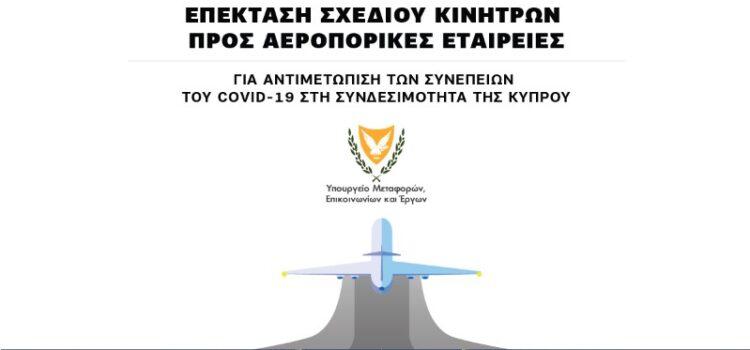 Επεκτείνεται το Σχέδιο Κινήτρων προς Αεροπορικές Εταιρείες για αντιμετώπιση των συνεπειών του COVID-19 στη συνδεσιμότητα της Κύπρου